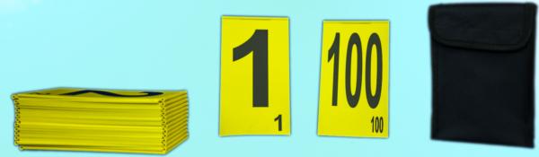 Set placute de gabarit mare cu cifre (1-20 ), pliabile