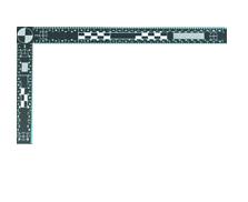 Rigla magnetica neagra 15×30